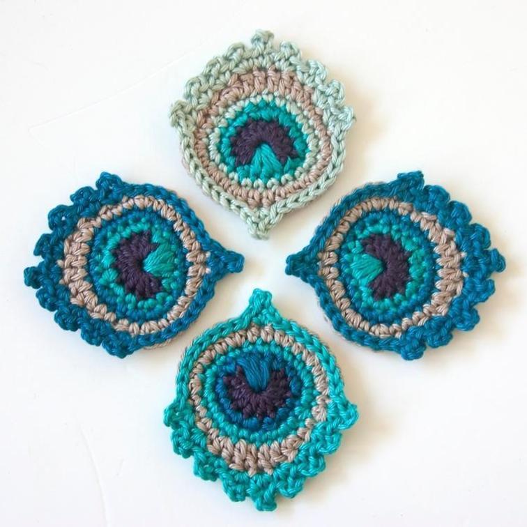 Crochet Peacock Feather Pattern