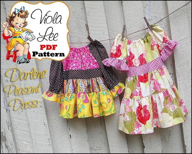 Darlene Girl's Peasant Dress Sewing Pattern