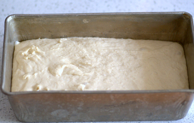 How to make English Muffin Bread, post-rise
