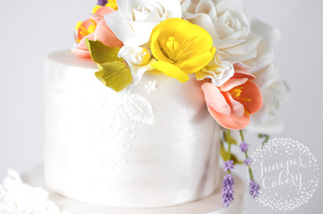 Tutorial for fondant lavender by Juniper Cakery
