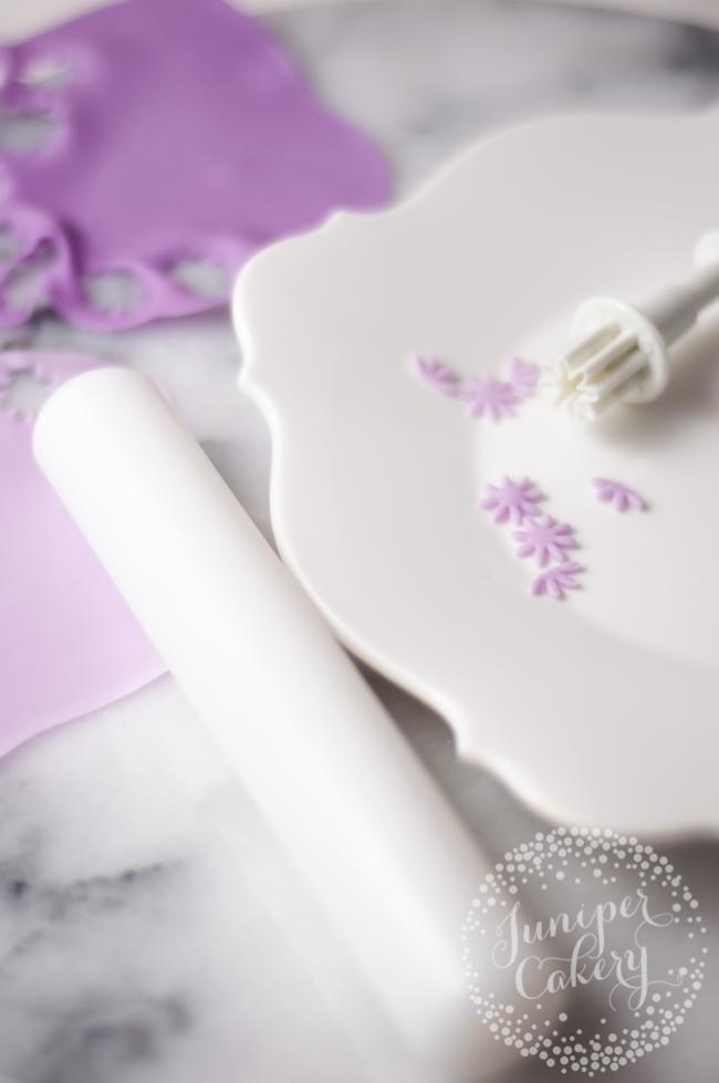 Sugar fondant lavender tutorial