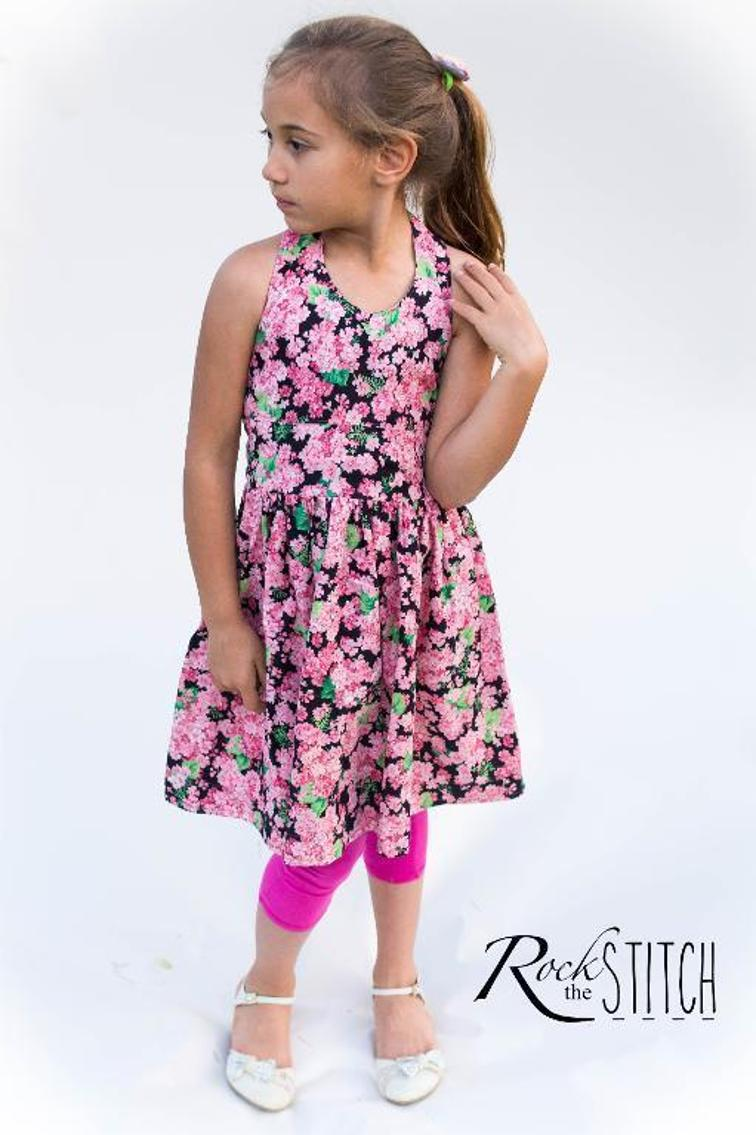 Girl's Halter Dress Sewing Pattern