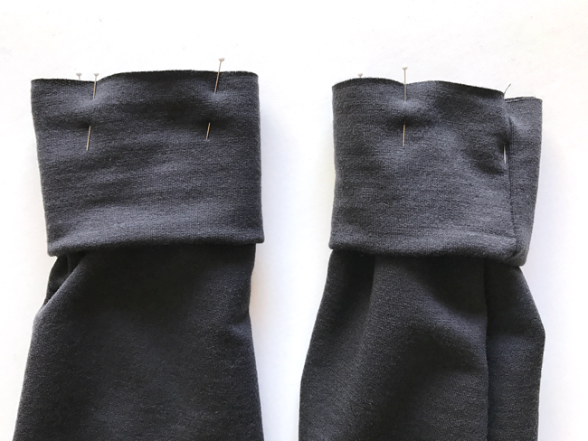 sewing cuffs on hoodie sleeves