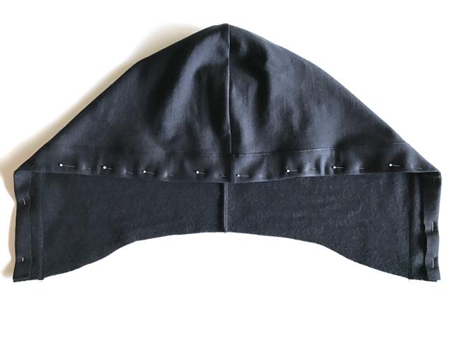 Sewing a hood