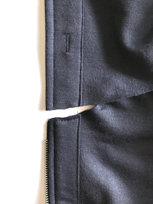 hood and zipper seams