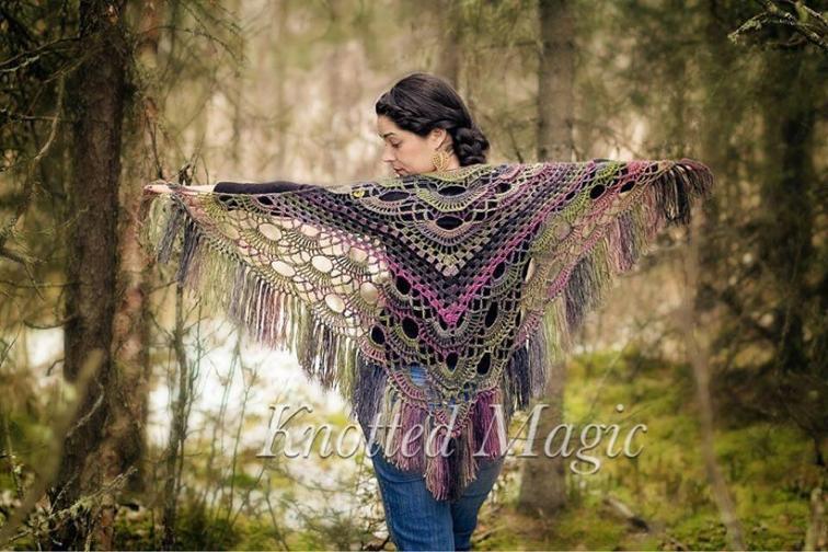 knotted magic shawl crochet pattern
