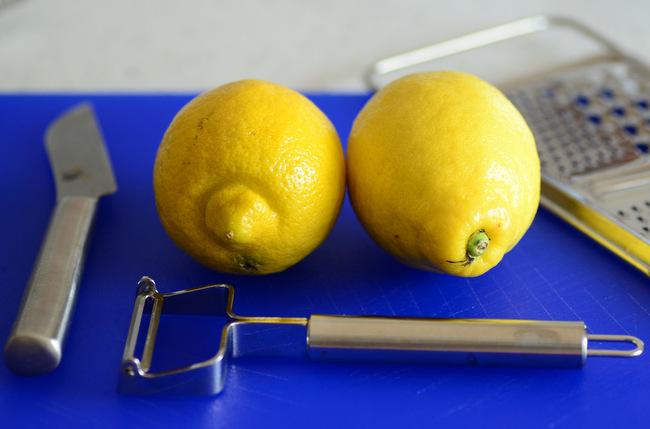 Lemons ready to peel