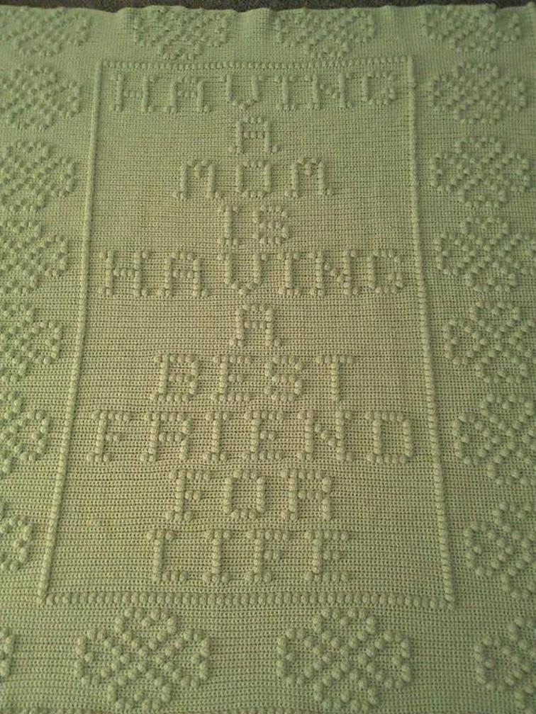 mothers day crochet blanket