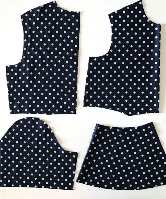Pieces for Sewing a Peplum Top