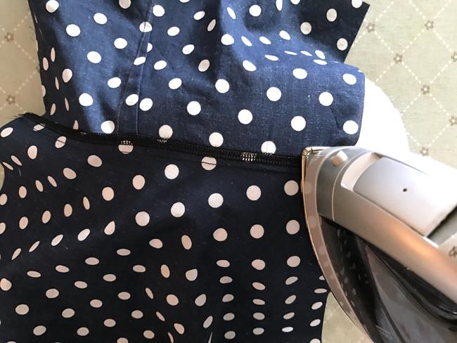 Sewing a serged seam