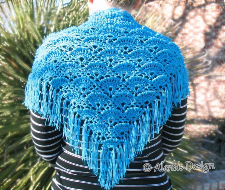 triangle lace shawl crochet pattern