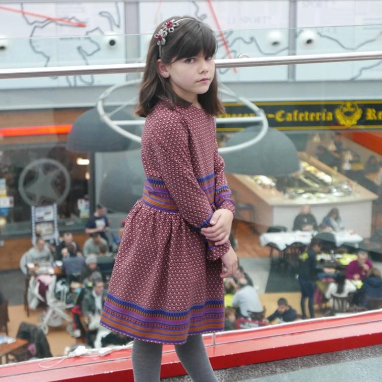 Girl Dress with Gathered Skirt Sewing Pattern