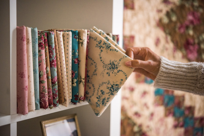 Boundless Rosemoor Fabric on Shelf