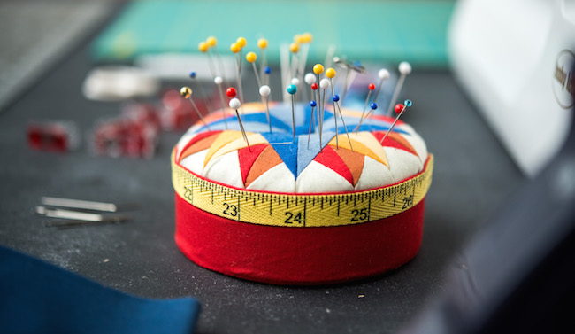 Sewing Pins in a Pin Cushion