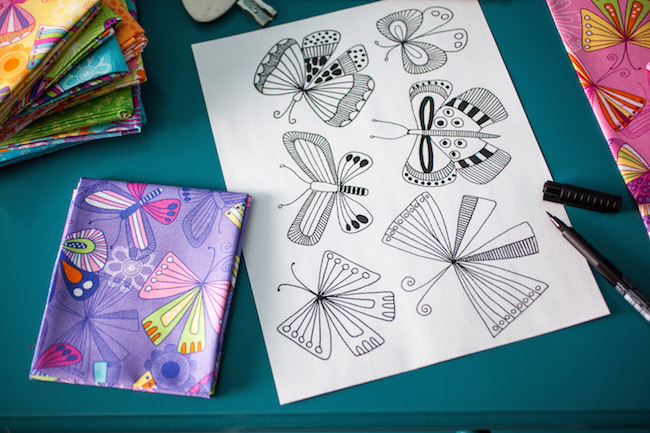 Lily & Loom Butterfly Sketches