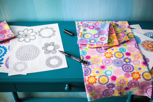 Floral Sketches and Fabric