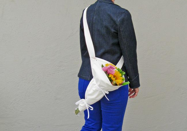 Flower carrier2 worn as crossbody