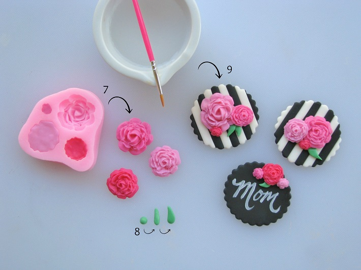 Mother's Day floral cupcake toppers 3