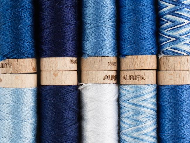 Blue Aurifil Thread