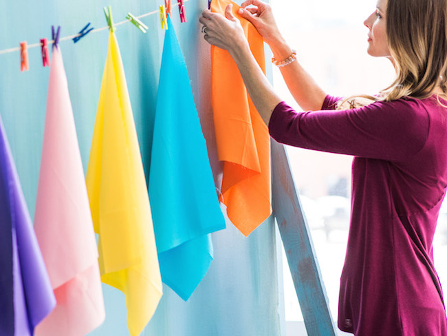 Hanging Quilting Fabric
