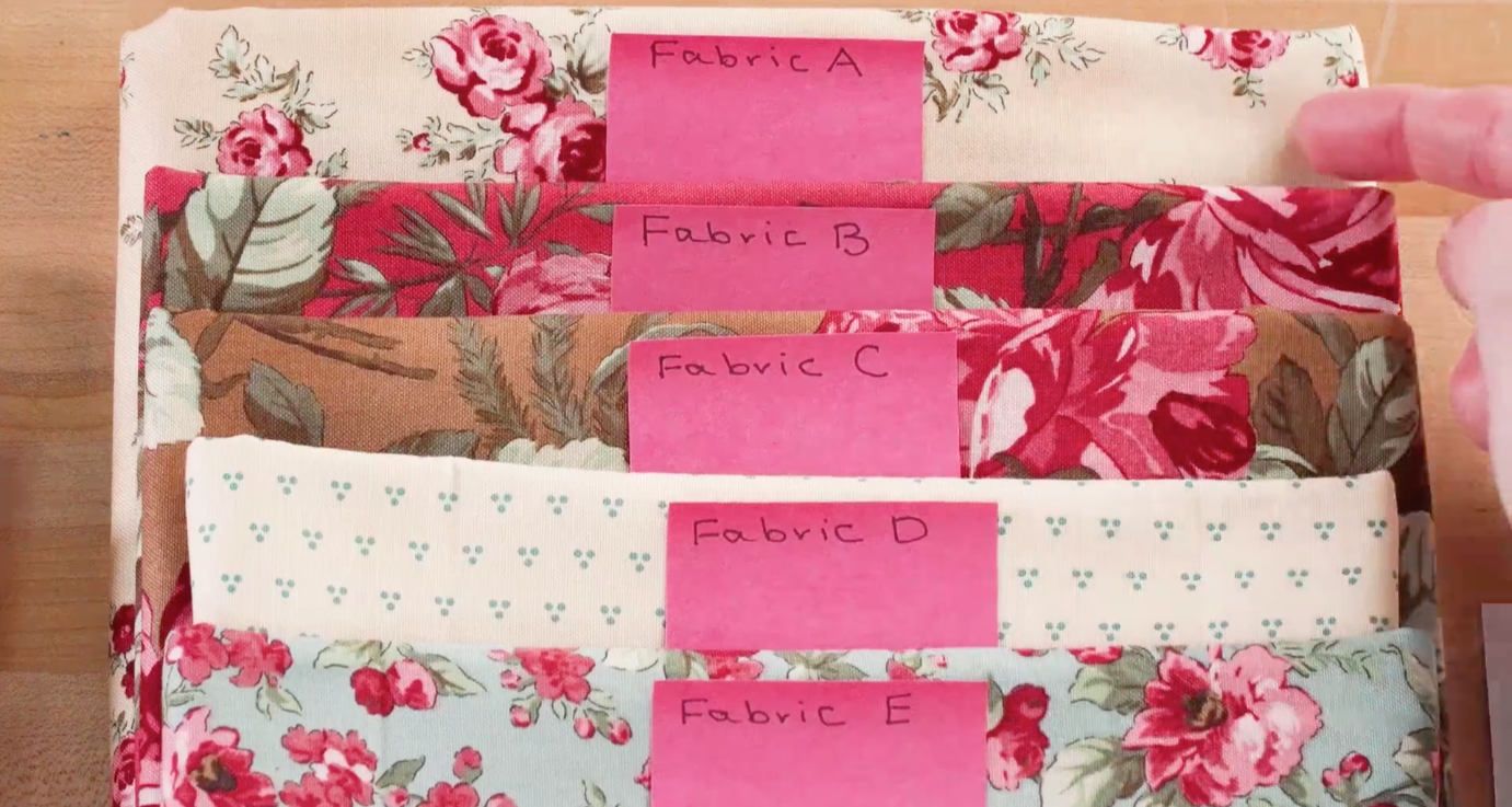 Fabric Labeled in Order