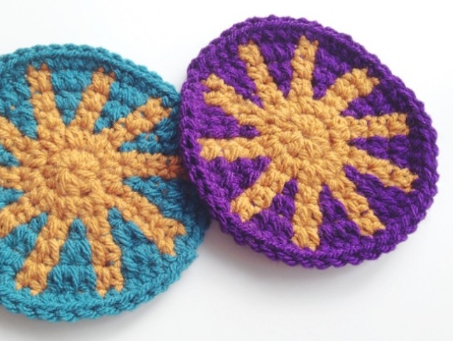 tapestry crochet coaster free pattern