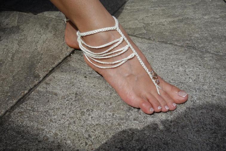 boho barefoot sandals crochet pattern