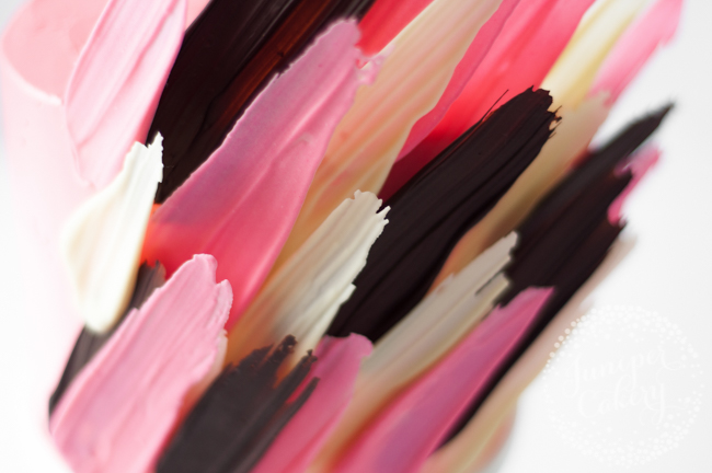 Learn how to make this brushstroke cake