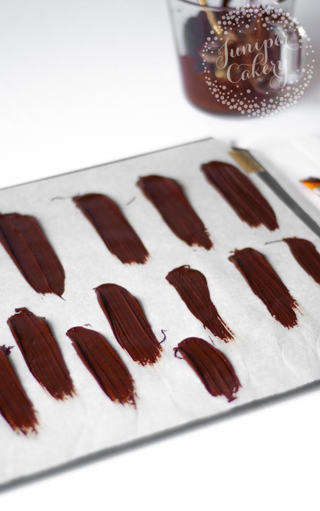 Fun brushstroke candy melt cake tutorial