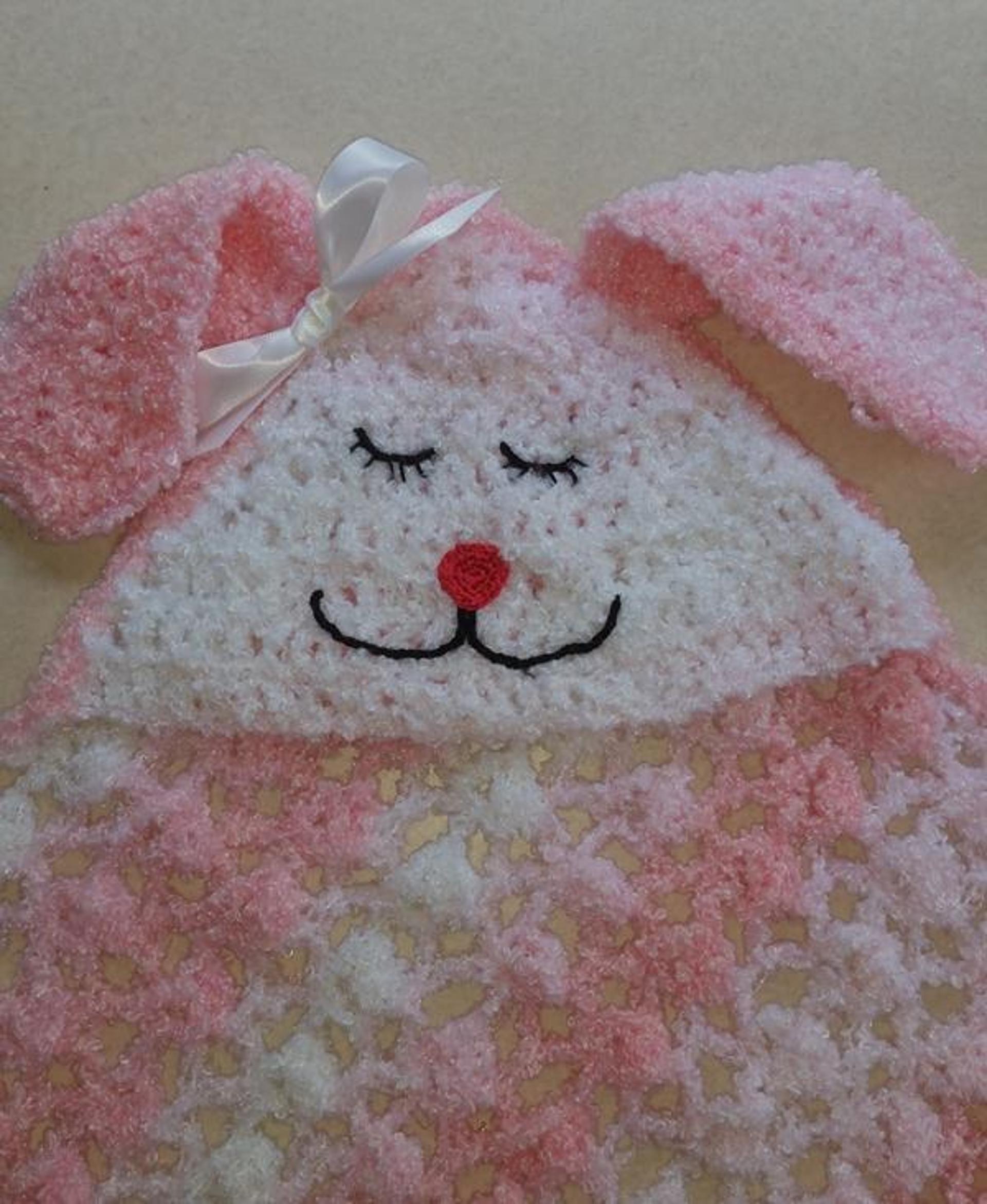 bunny blanket crochet pattern