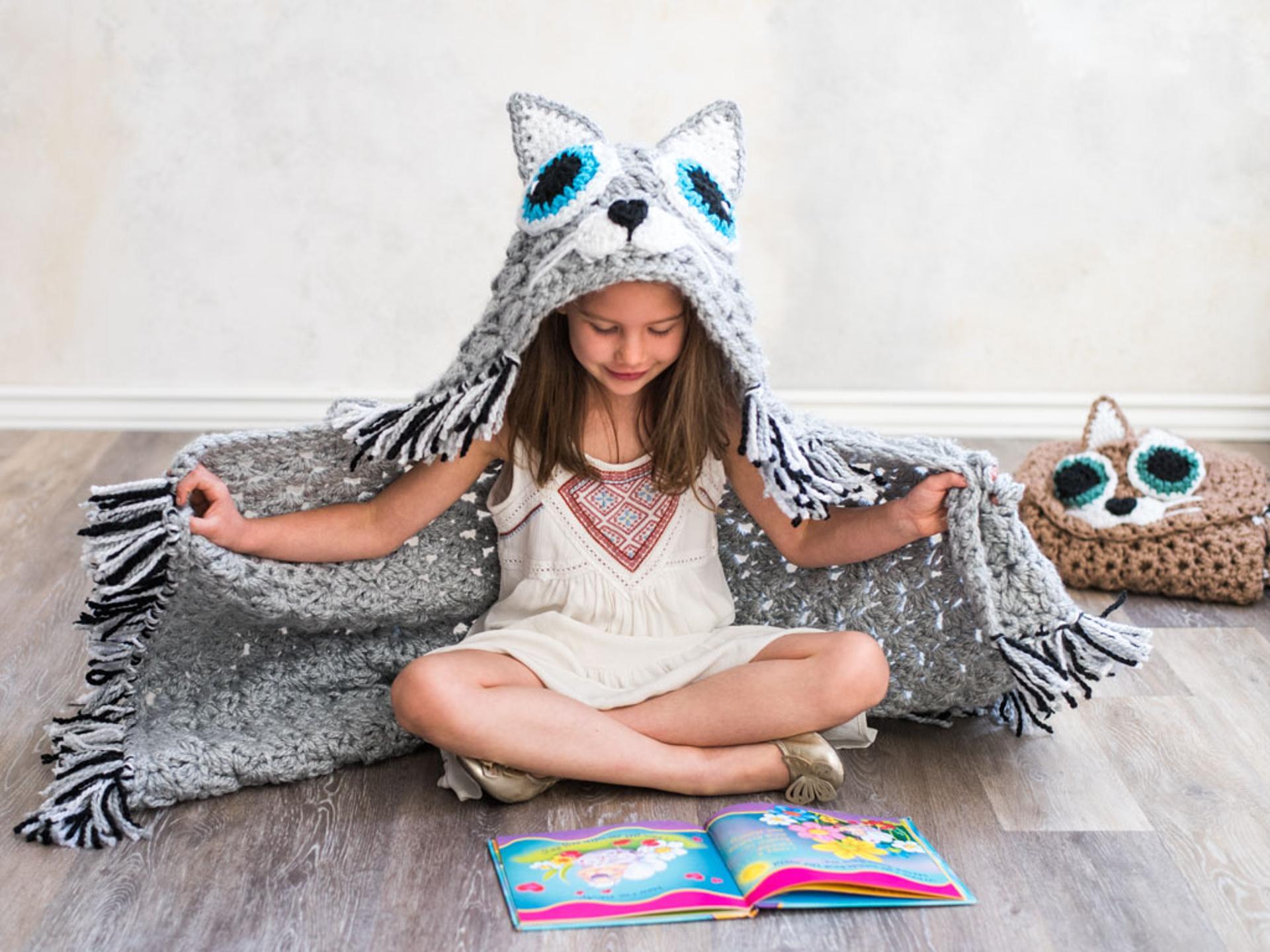 cat blanket crochet kit