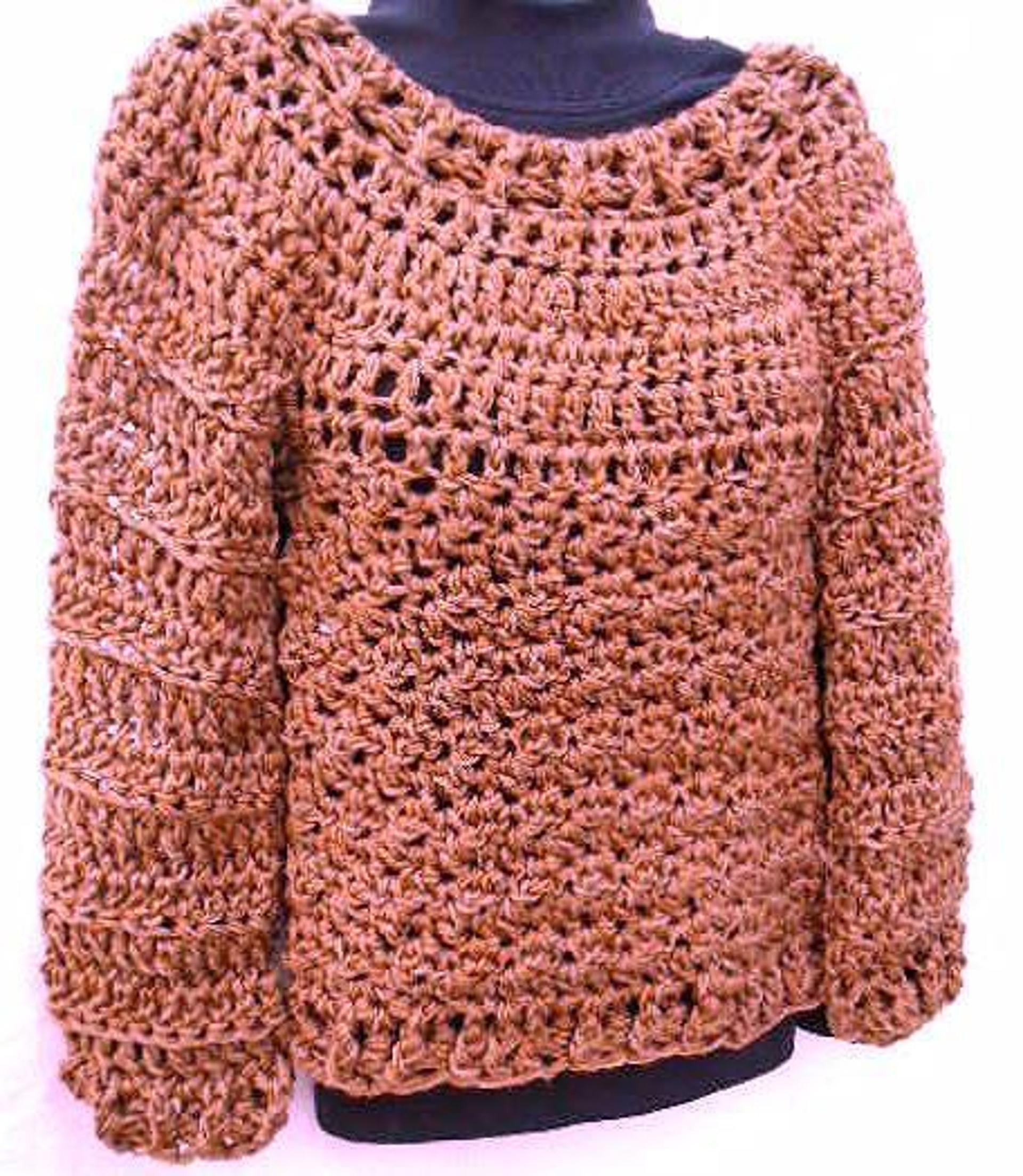 chunky plus size crochet sweater