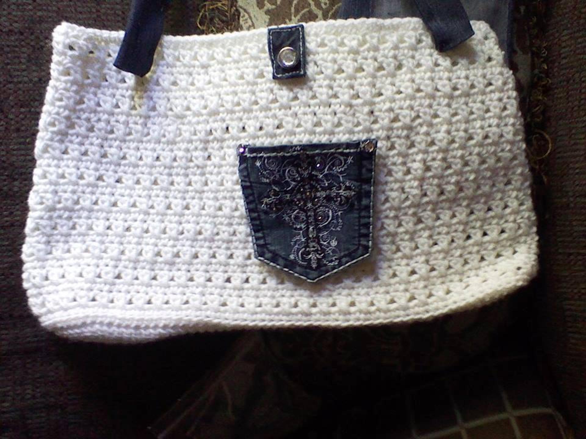 crochet denim purse pattern