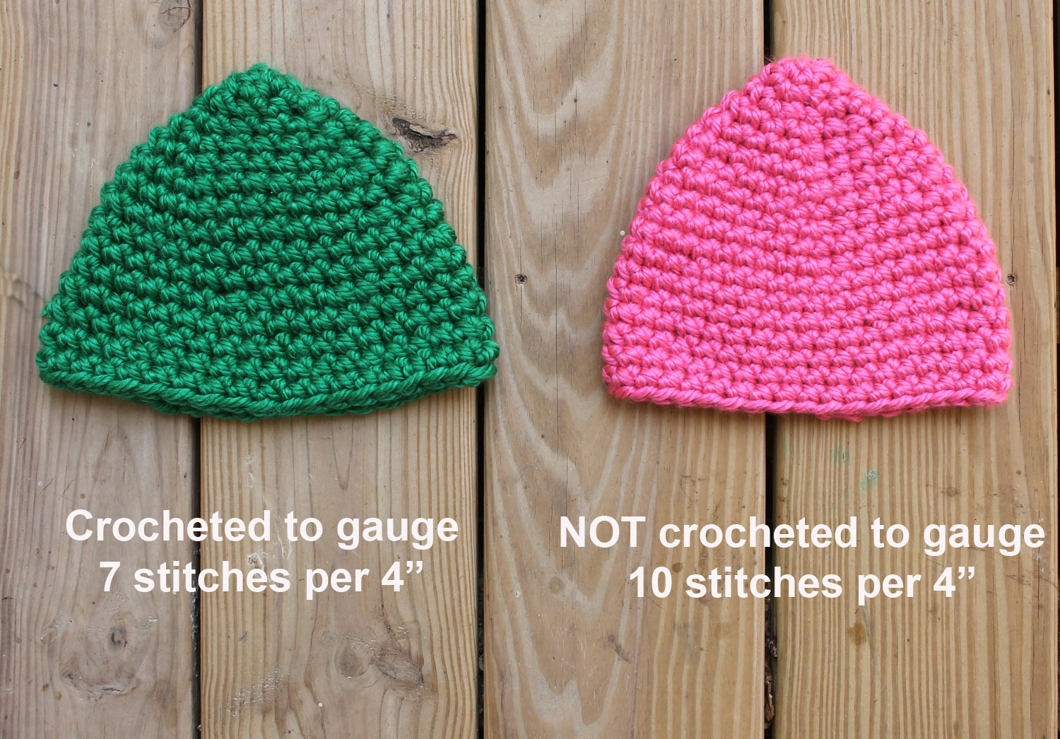 Crochet Gauge for Hats