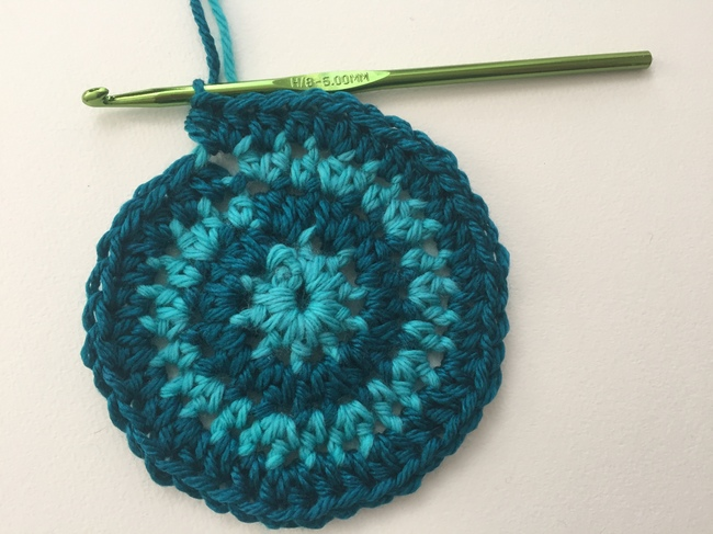 crochet spiral round 4