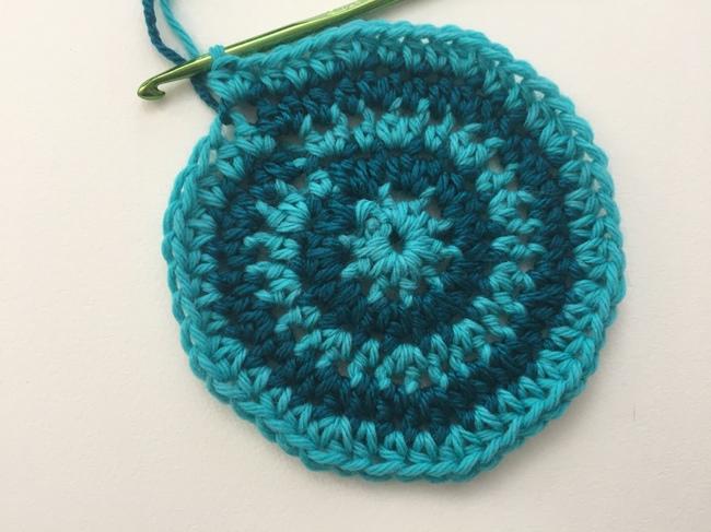 crochet spiral round 5