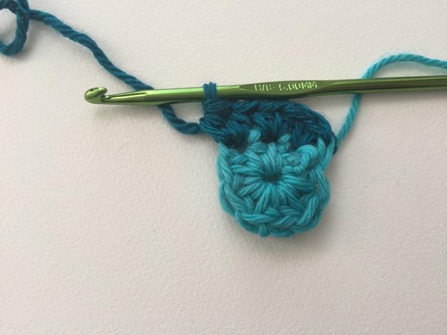 crochet spiral round 2