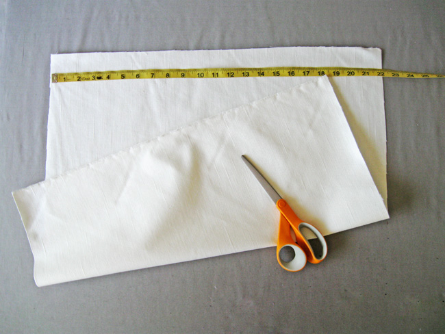 cut fabric square