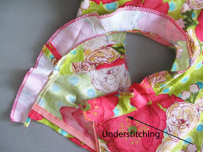 facing with understitching