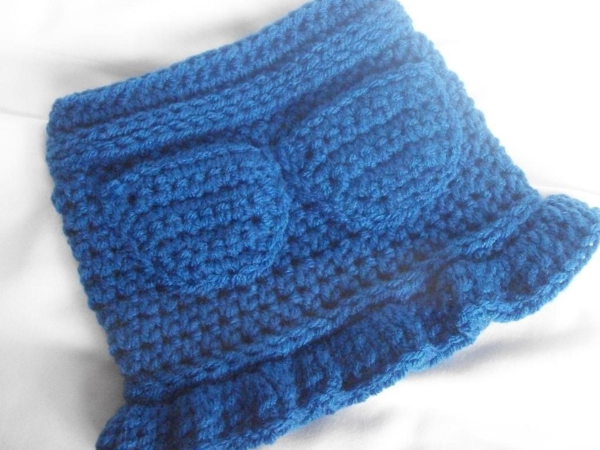 faux denim ruffle skirt crochet pattern