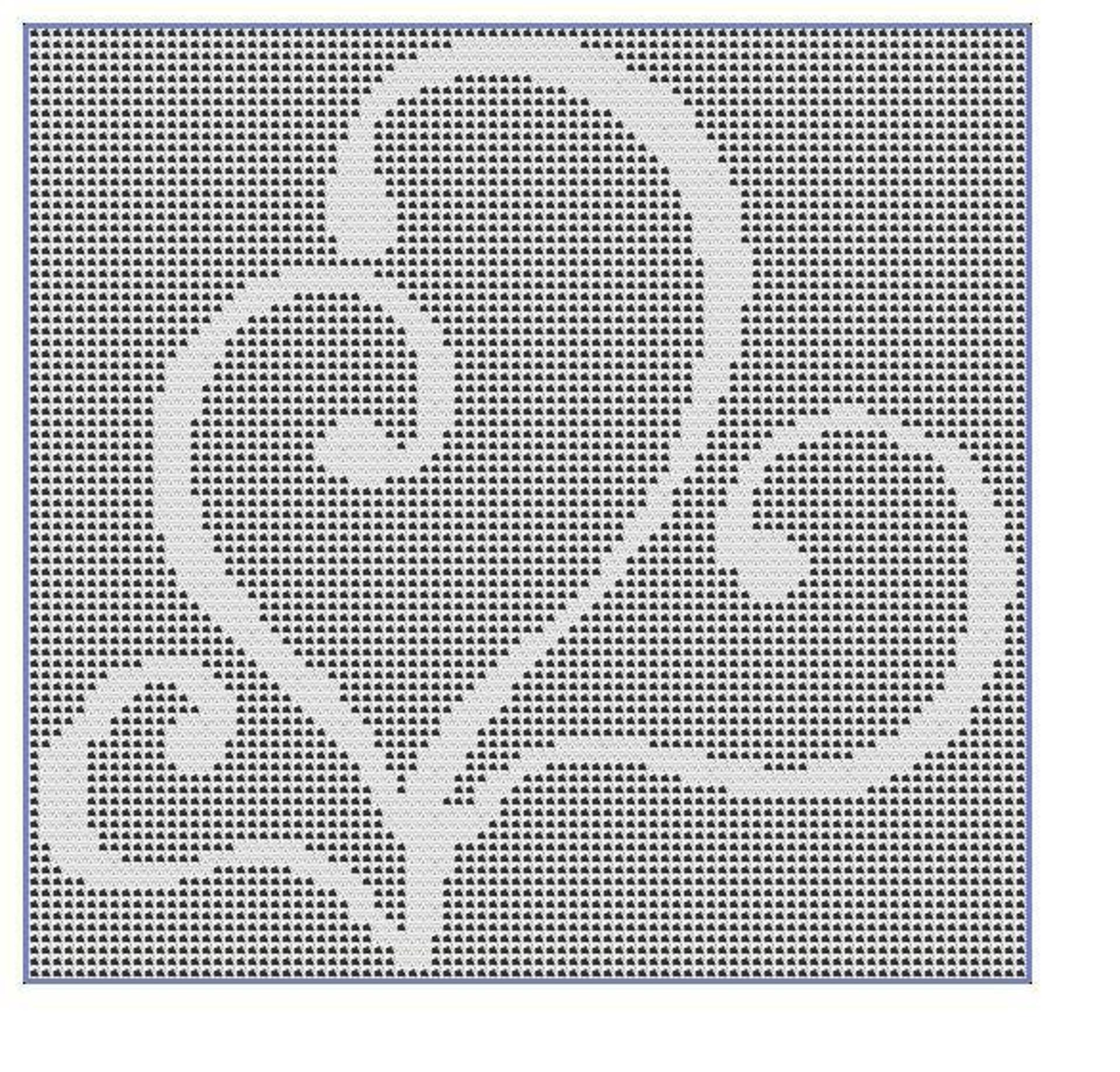 filet crochet swirls free pattern
