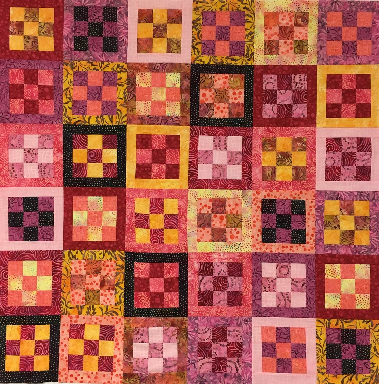 Framed Nine Patch Quilt