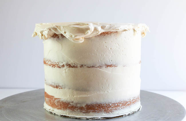 Buttercream Hanging Over the Top Edge of a Layer Cake