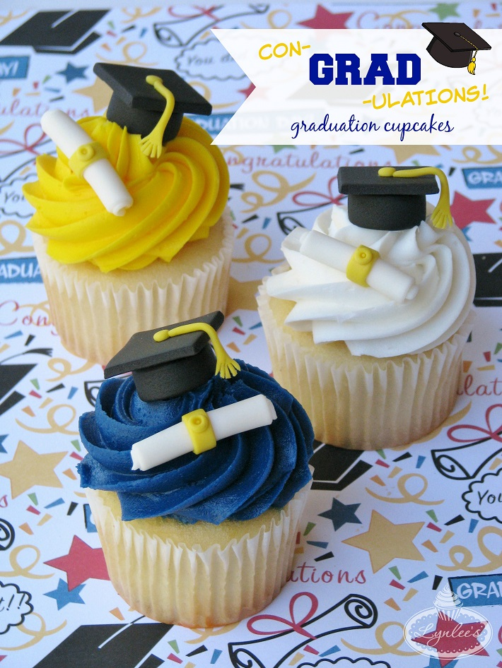 Graduation Cupcakes tutorial