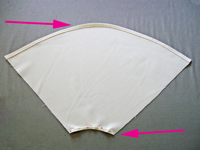 hem upper and lower edges4a