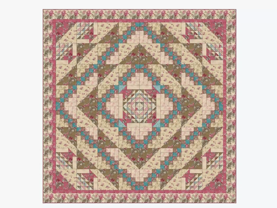 Flower Basket Half Square Triangle Flip