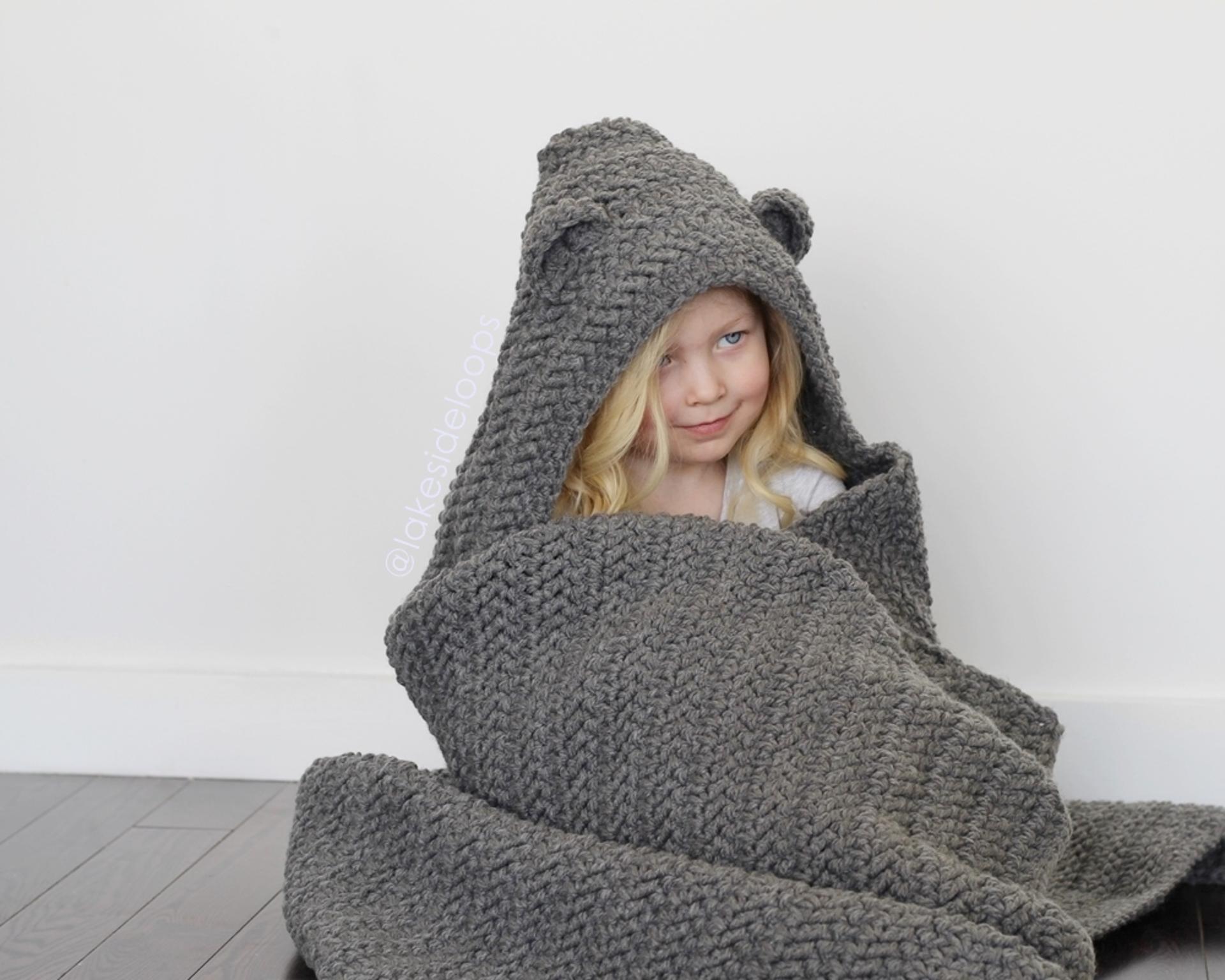 jensen hooded blanket crochet pattern