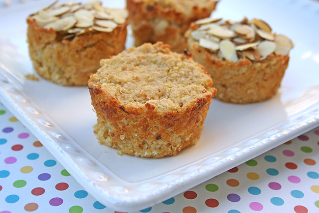 Quinoa muffins, baked
