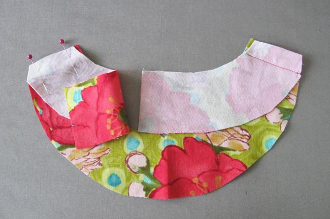 sew facing shoulder seams