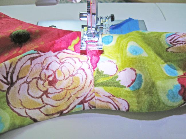 stitch facings down on seams